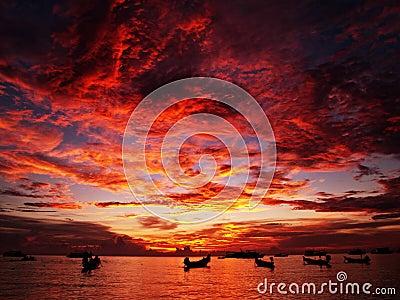заход солнца Таиланд