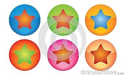 звезда кнопок