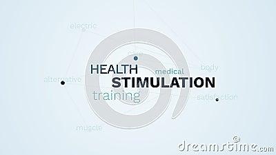 Здоровье стимулированием тренируя облако слова медицинской мышцы удовлетворения заботы ухода за телом альтернативной электрическо бесплатная иллюстрация