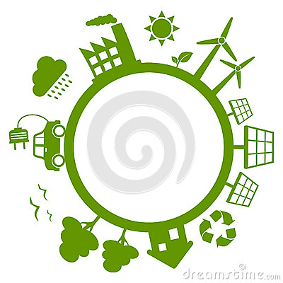 Зеленая земля планеты энергии