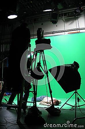 зеленая установка экрана