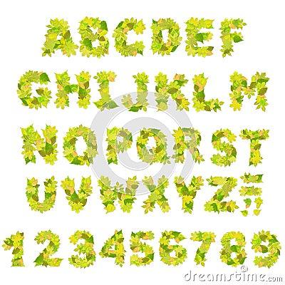 зеленый цвет алфавита