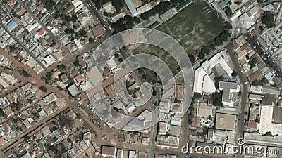 Земля сигналит внутри сигнал из Банжула Гамбия акции видеоматериалы