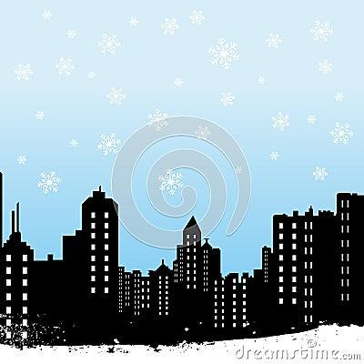 зима города