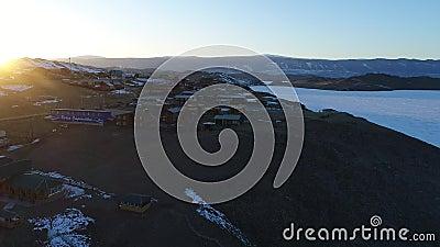 зима озера льда baikal плавя акции видеоматериалы