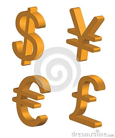 знаки валюты