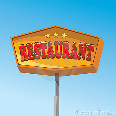 знак ресторана