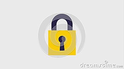 Значки замка безопасности видеоматериал