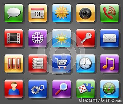 Значки App