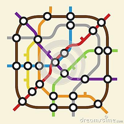 Значок схемы метро