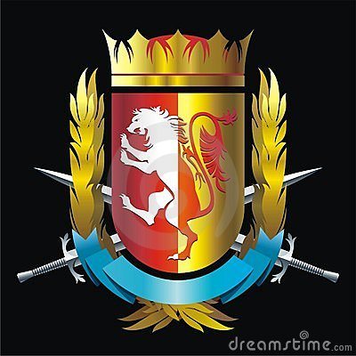 Значок с львом