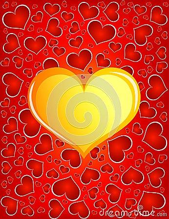 золотистое сердце