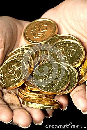 золото монеток
