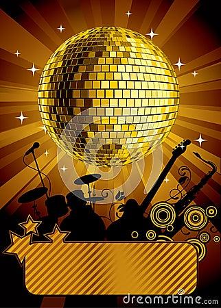 золото диско шарика
