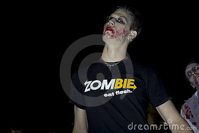 зомби прогулки la 4 Редакционное Стоковое Фото