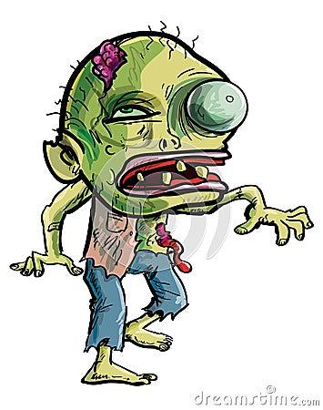 Зомби шаржа делая хватая движение