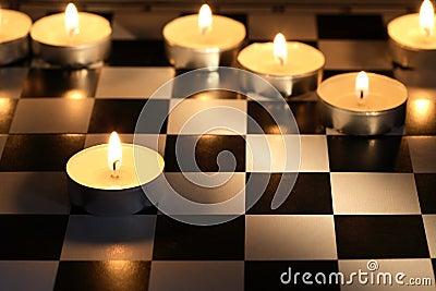 Игра шахмат пожара