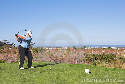 игрок в гольф 60