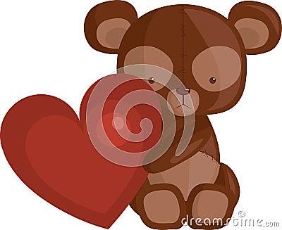 игрушечный сердца медведя