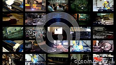 Изготовление мульти-экрана индустрии сток-видео