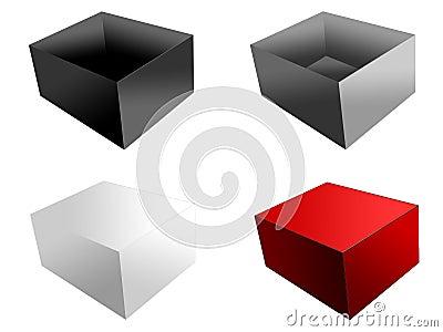 изолированные коробки