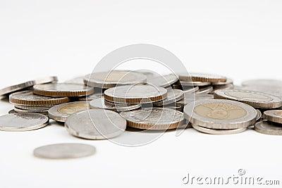 изолированные монетки