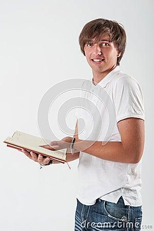 Изумленный молодой человек