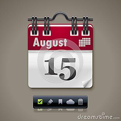Икона календара XXL вектора