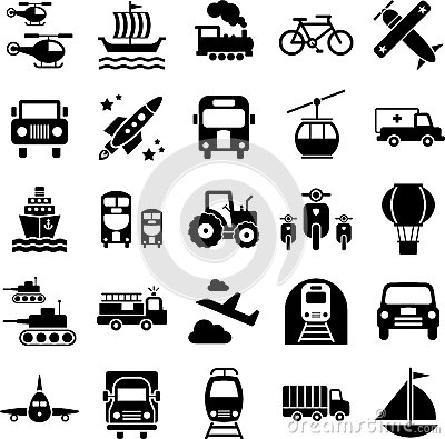 Иконы перемещения перевозки
