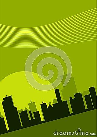 иллюстрация городского пейзажа