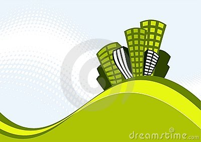 иллюстрация зданий ретро
