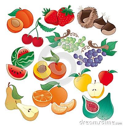 иллюстрация плодоовощ