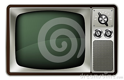 иллюстрация ретро tv