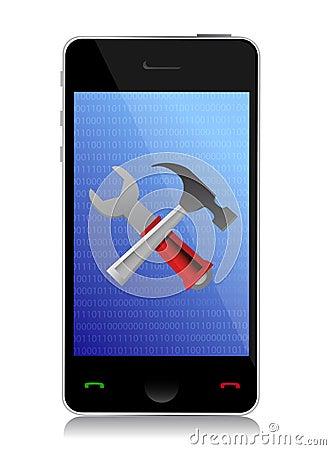 Инструменты установки телефона