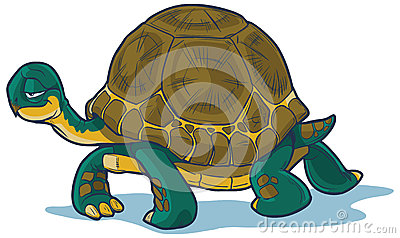 Идти черепахи шаржа