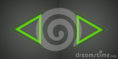 Иллюстрация с зеленым знаком стрелок