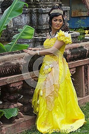 камбодец невесты Редакционное Стоковое Фото