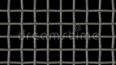 Камера через решетку, решетка прохода сток-видео