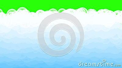 Карикатура кипит водой с пузырьком на зеленом фоне Абстрактная плоская вода акции видеоматериалы