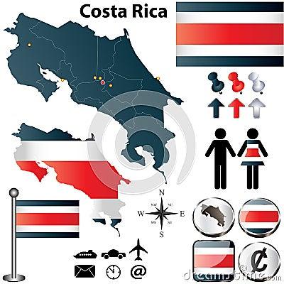 Карта Коста-Рика
