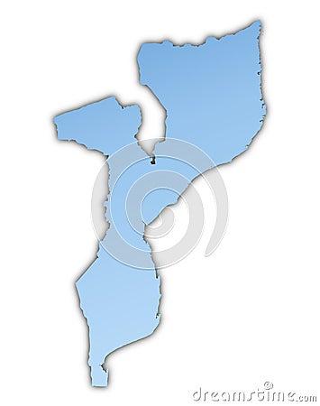 карта Мозамбик