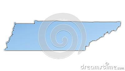 карта Теннесси США