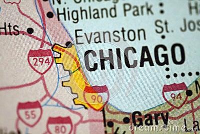 карта chicago illinois
