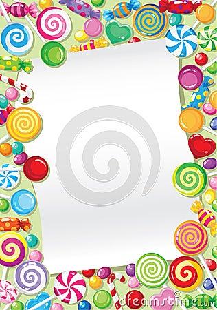 карточка конфеты