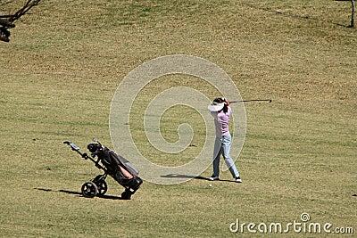 Качание гольфа
