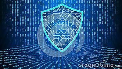 киберщит, защита от вредоносного шпионского ПО приложения цифровое антивирусное программное обеспечение иллюстрация вектора