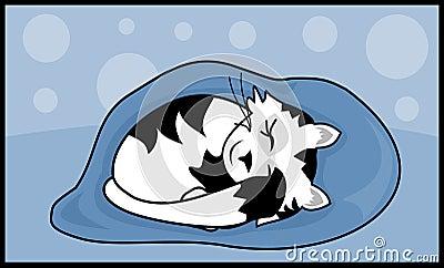 Киска спать