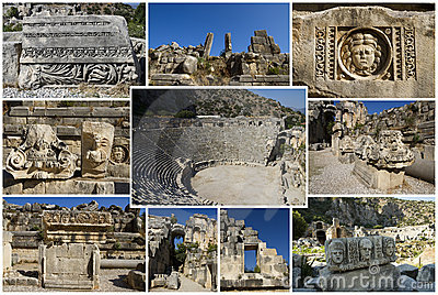 Коллаж римского театра