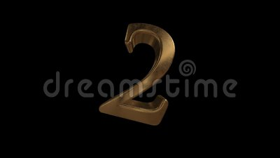 Комплекс предпусковых операций от 0 до 10 число 2 Число 2 золота с каналом альфы иллюстрация штока