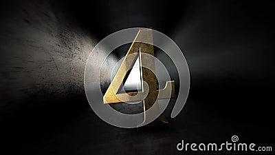 Комплекс предпусковых операций от 0 до 10 Число 4 Число 4 золота с каналом альфы 80 бесплатная иллюстрация